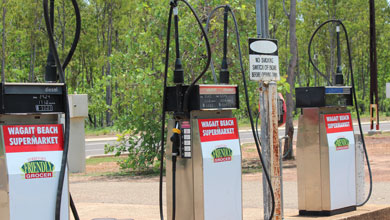 Fuel at Wagait Beach